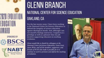 NCSE Deputy Director Glenn Branch