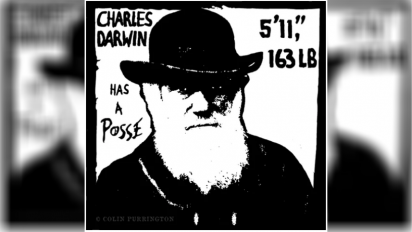 Charles Darwin Has a Posse graphic
