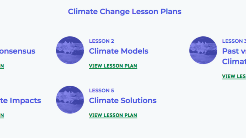 NCSE Climate Change lessons