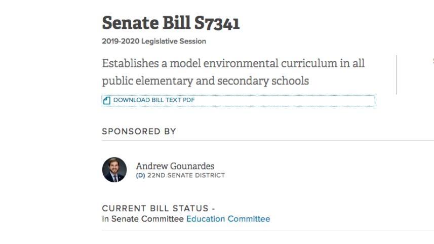 NY climate change education bill