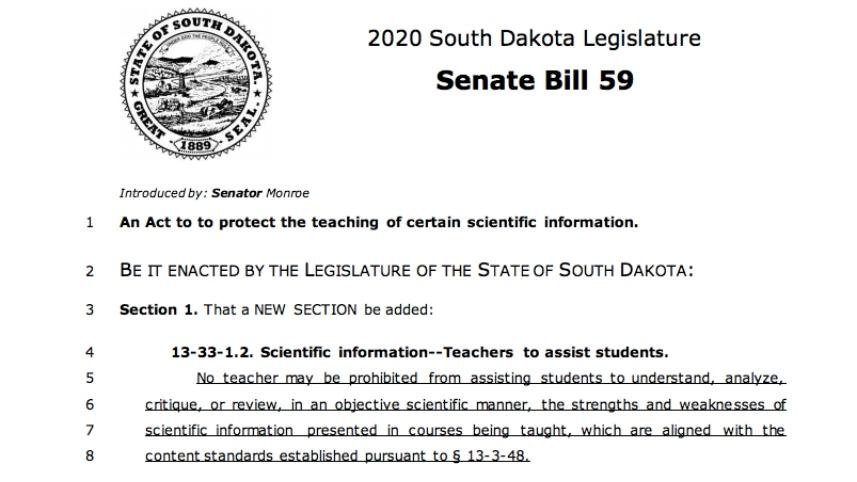 South Dakota legislation