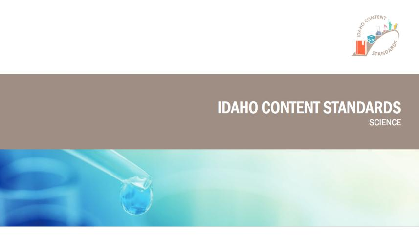 Idaho science standards document